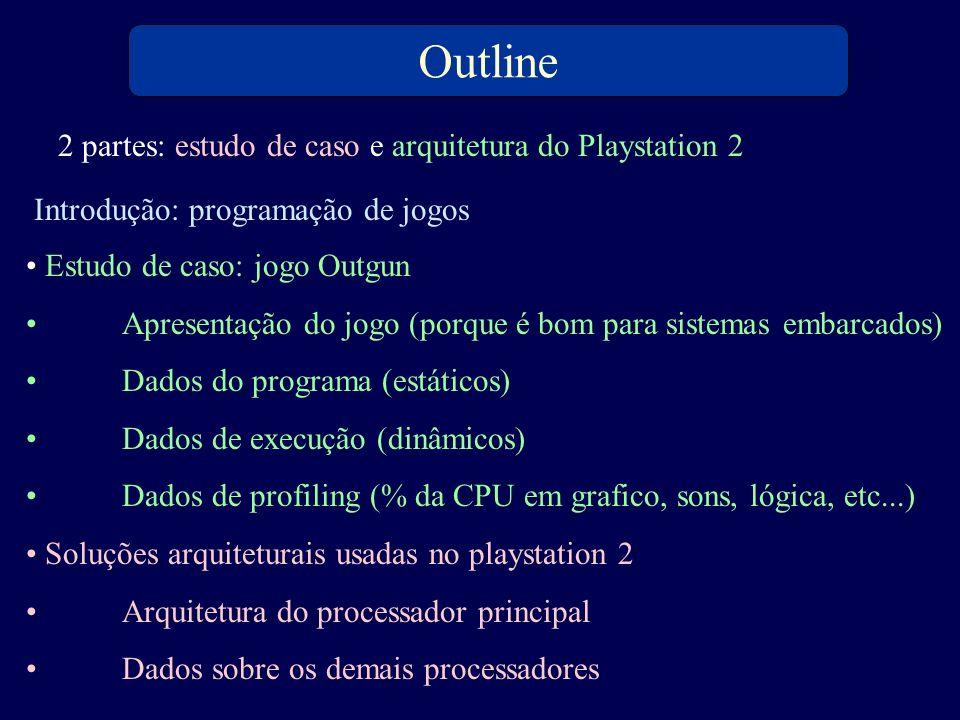 Outline 2 partes: estudo de caso e arquitetura do Playstation 2