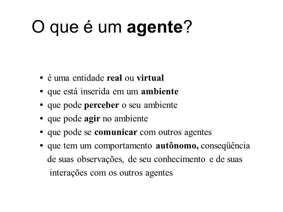 O que é um agente é uma entidade real ou virtual