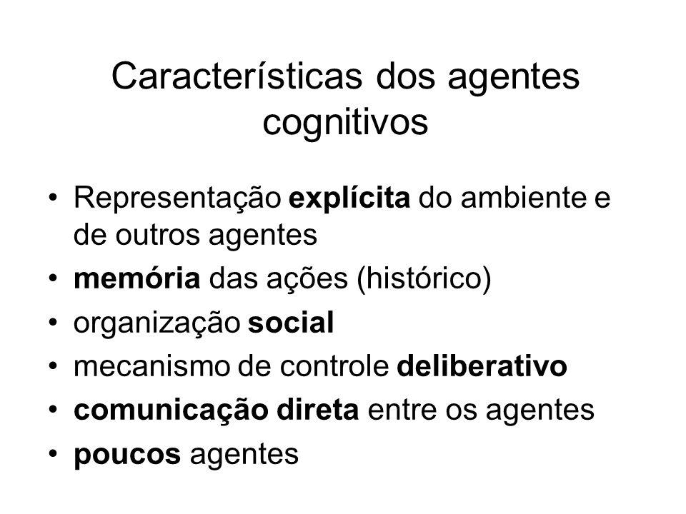 Características dos agentes cognitivos