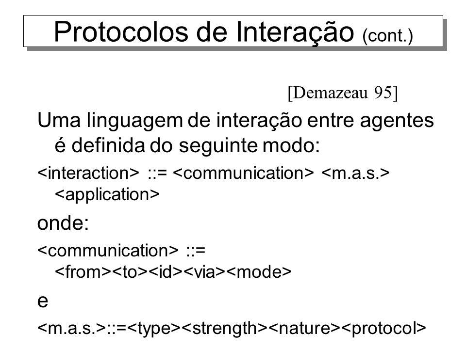 Protocolos de Interação (cont.)