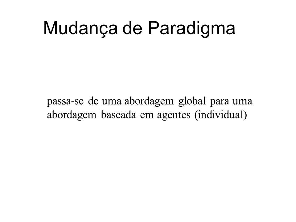Mudança de Paradigma passa-se de uma abordagem global para uma