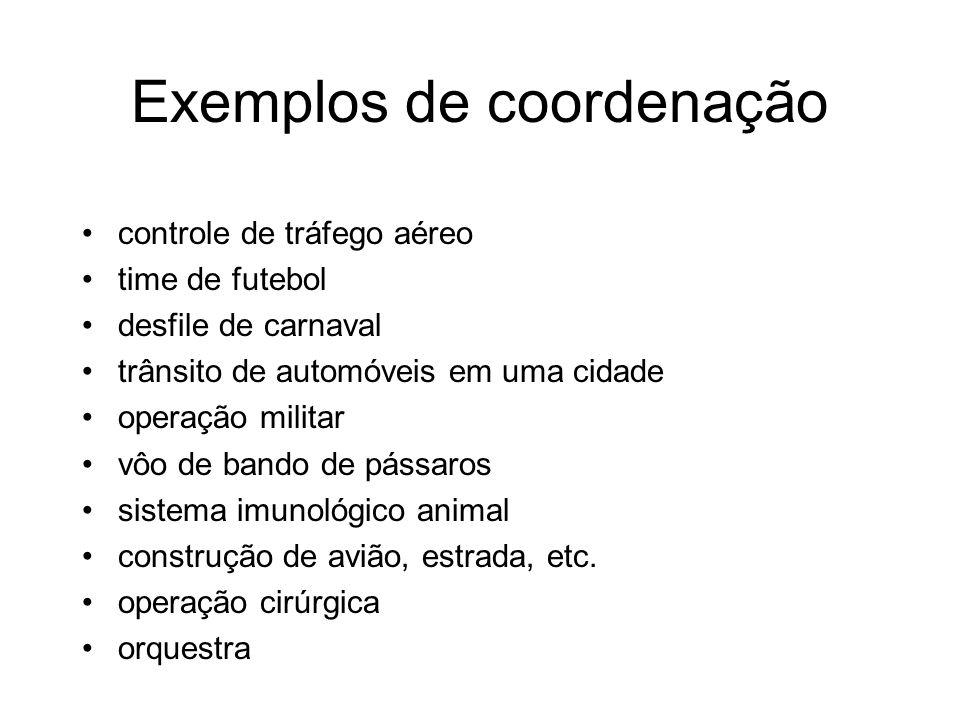 Exemplos de coordenação