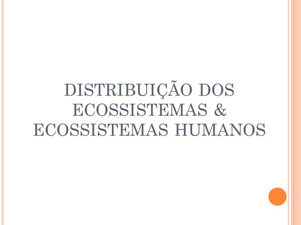 DISTRIBUIÇÃO DOS ECOSSISTEMAS & ECOSSISTEMAS HUMANOS