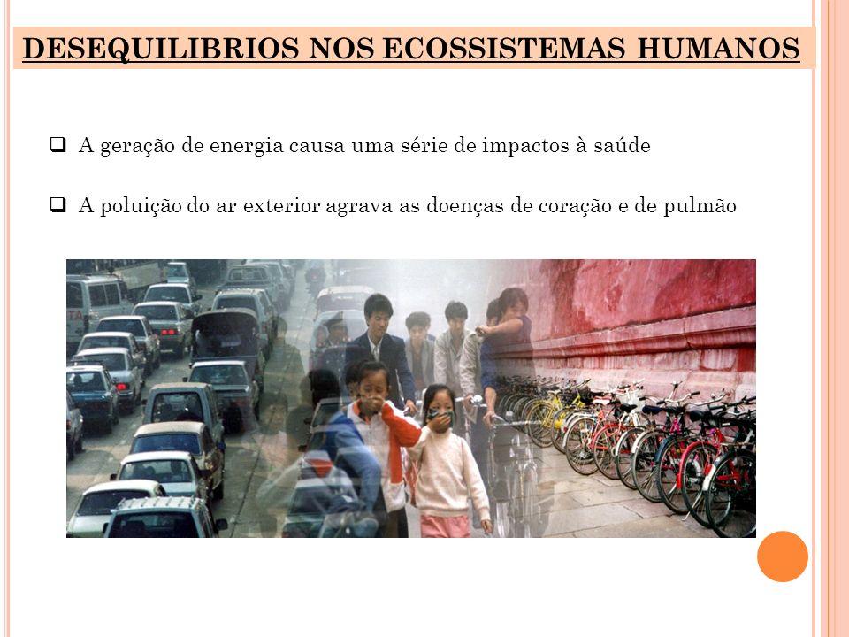 DESEQUILIBRIOS NOS ECOSSISTEMAS HUMANOS