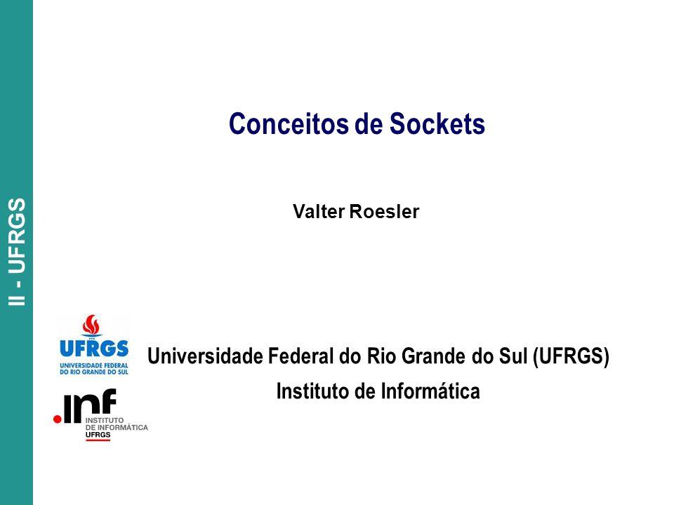 Conceitos de Sockets Universidade Federal do Rio Grande do Sul (UFRGS)