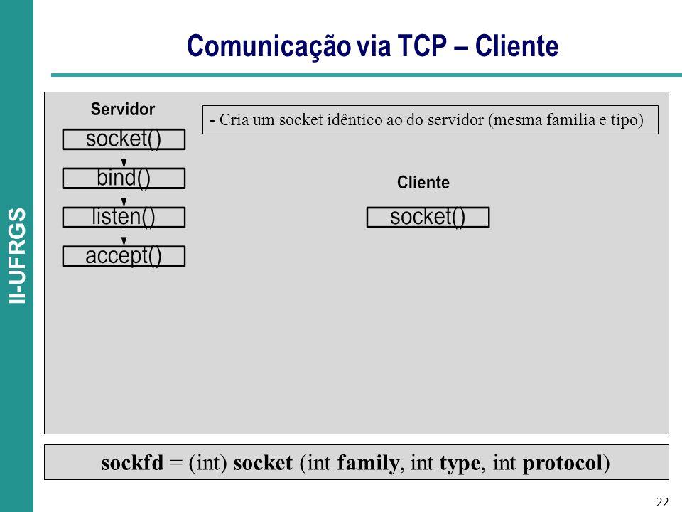 Comunicação via TCP – Cliente