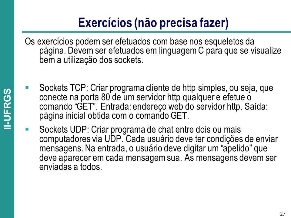Exercícios (não precisa fazer)