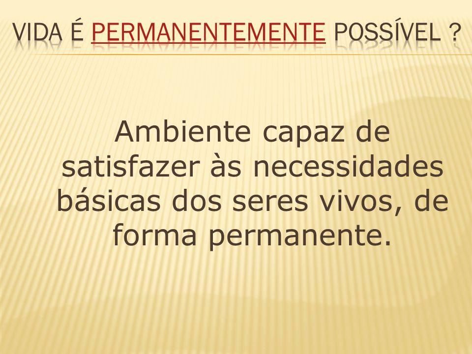 vida é permanentemente possível