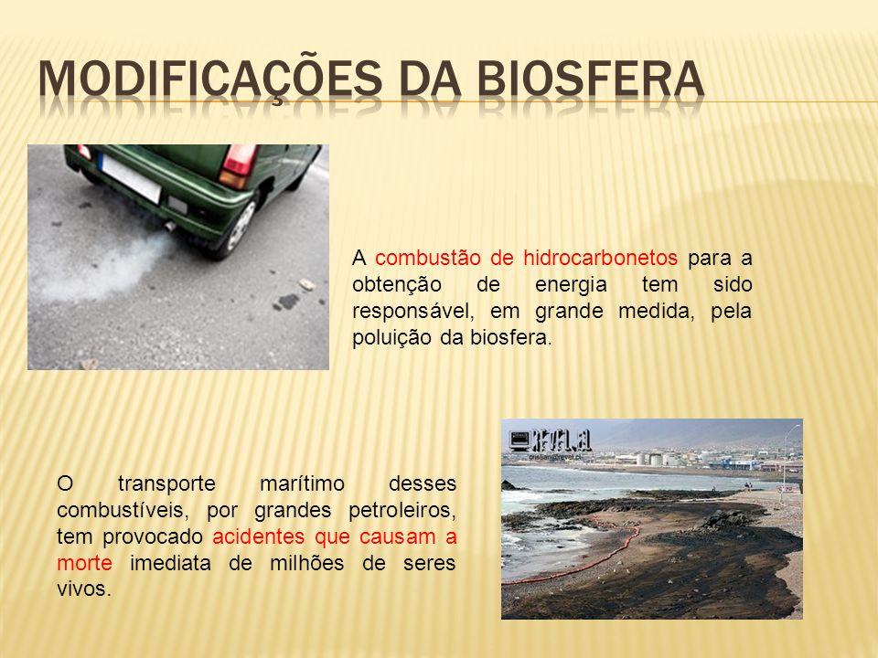 Modificações da biosfera