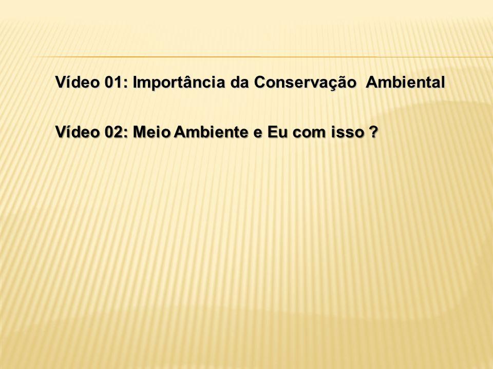 Vídeo 01: Importância da Conservação Ambiental