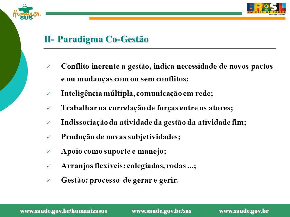 II- Paradigma Co-Gestão
