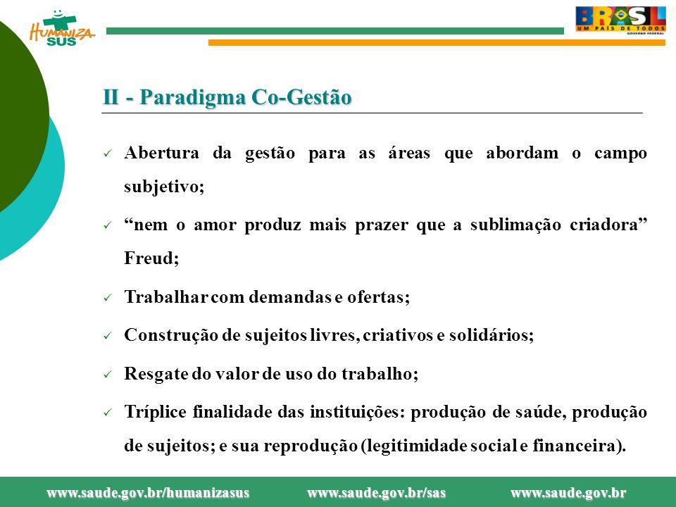 II - Paradigma Co-Gestão