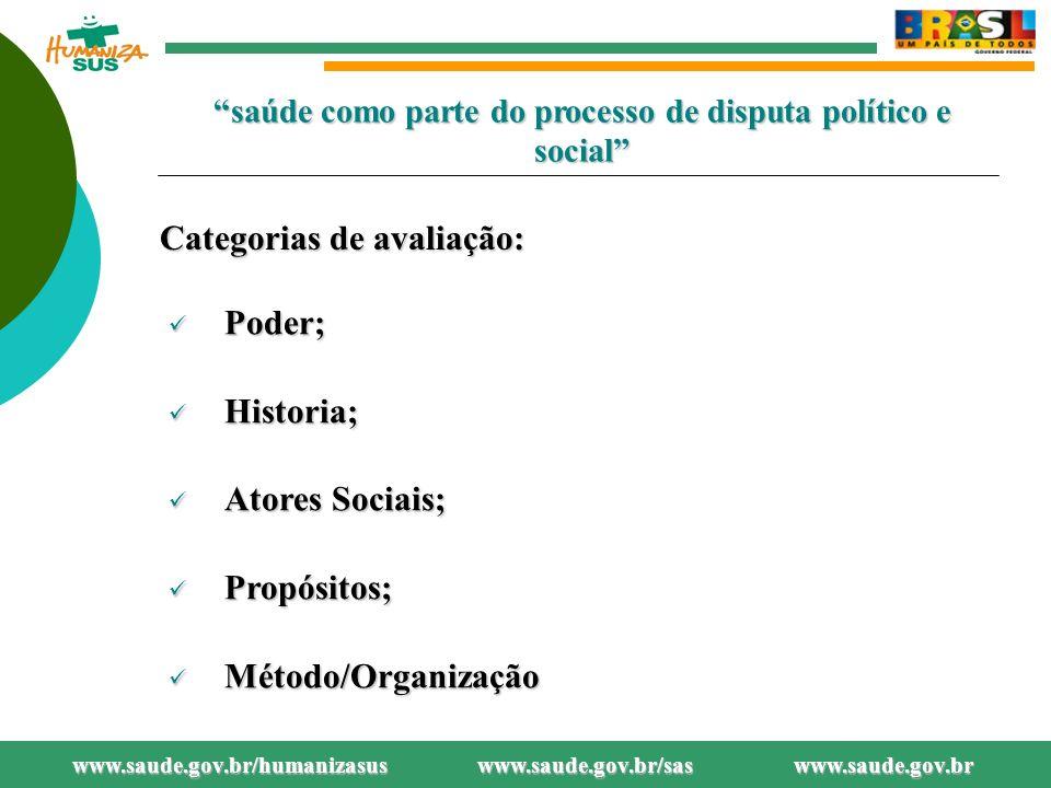saúde como parte do processo de disputa político e social