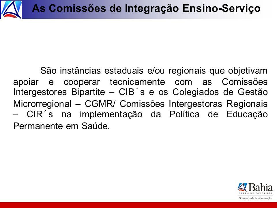 As Comissões de Integração Ensino-Serviço