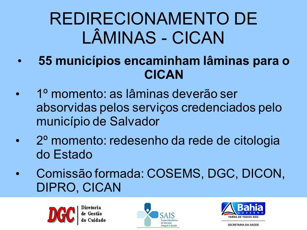 REDIRECIONAMENTO DE LÂMINAS - CICAN