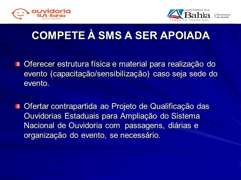 COMPETE À SMS A SER APOIADA