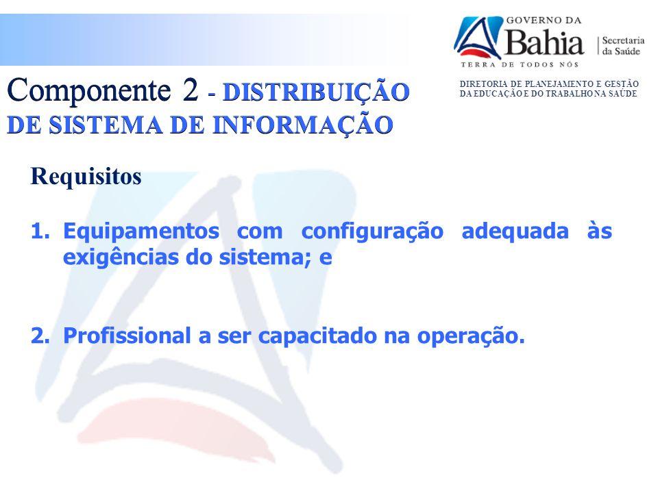 Componente 2 - DISTRIBUIÇÃO DE SISTEMA DE INFORMAÇÃO