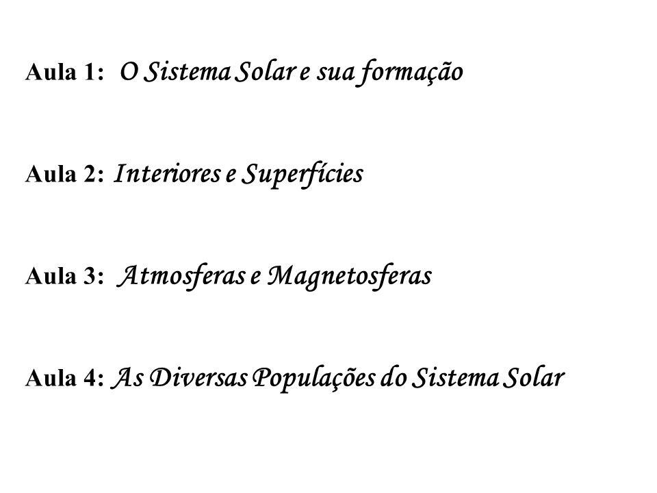 Aula 1: O Sistema Solar e sua formação