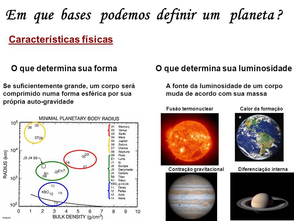 Em que bases podemos definir um planeta