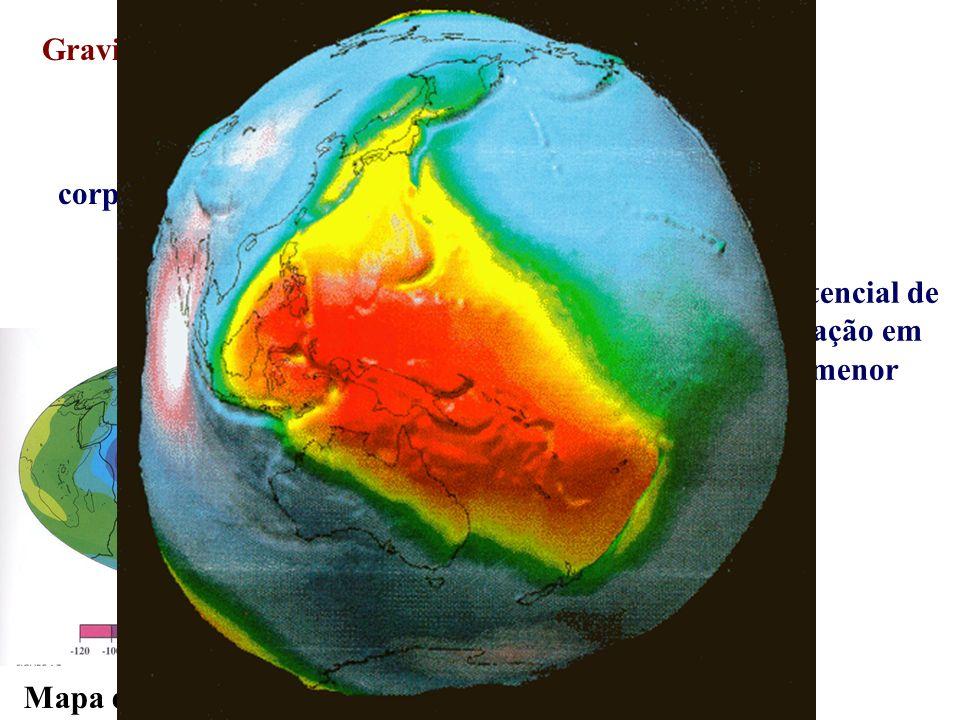 Gravidade e rotação corpo esférico. corpo oblato. geóide. Superfície equipotencial de. uma elipse em rotação em.