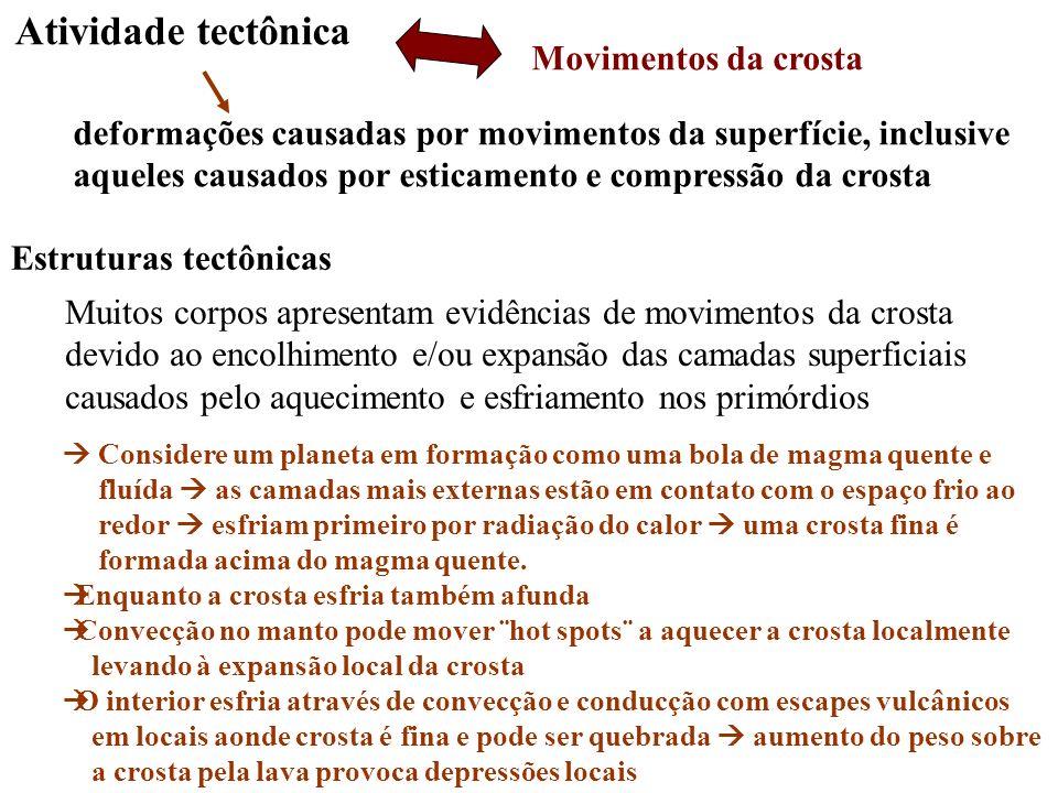 Atividade tectônica Movimentos da crosta