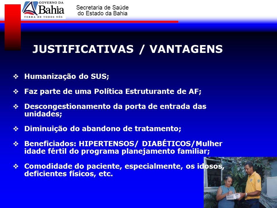JUSTIFICATIVAS / VANTAGENS
