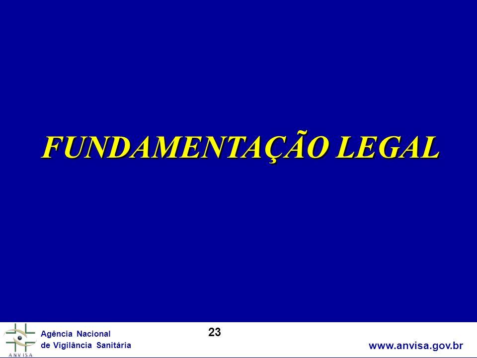 FUNDAMENTAÇÃO LEGAL 23