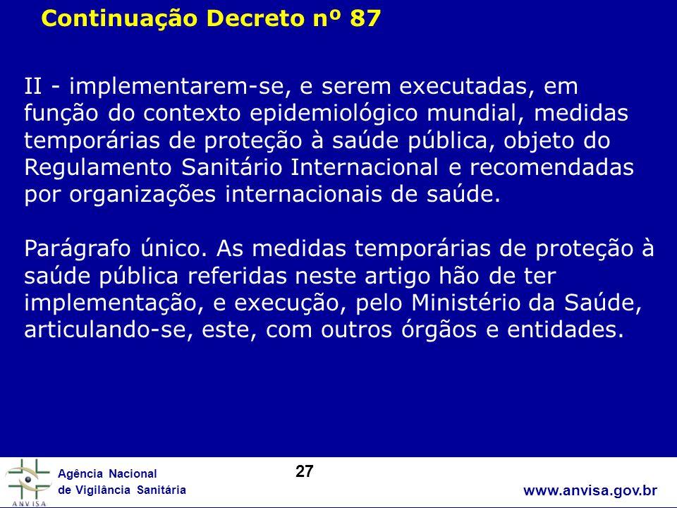 Continuação Decreto nº 87