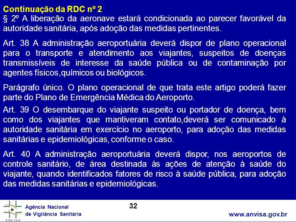 Continuação da RDC nº 2