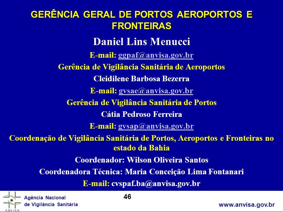 GERÊNCIA GERAL DE PORTOS AEROPORTOS E FRONTEIRAS