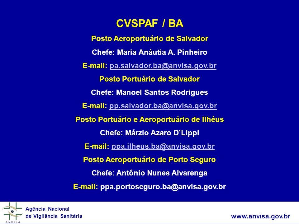 CVSPAF / BA Posto Aeroportuário de Salvador