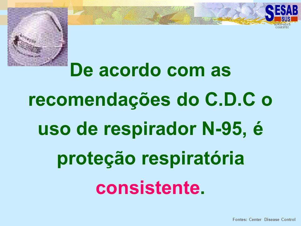 De acordo com as recomendações do C. D