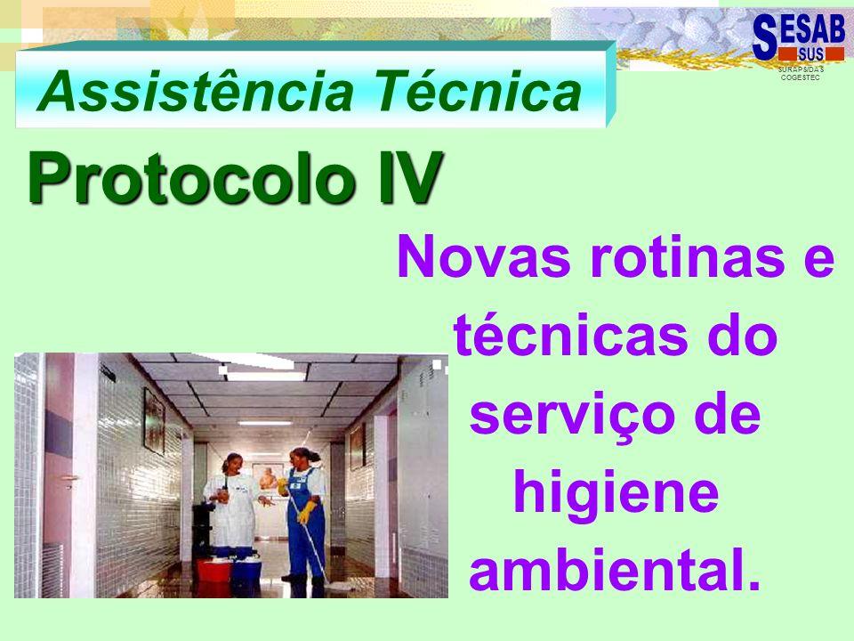 Novas rotinas e técnicas do serviço de higiene ambiental.