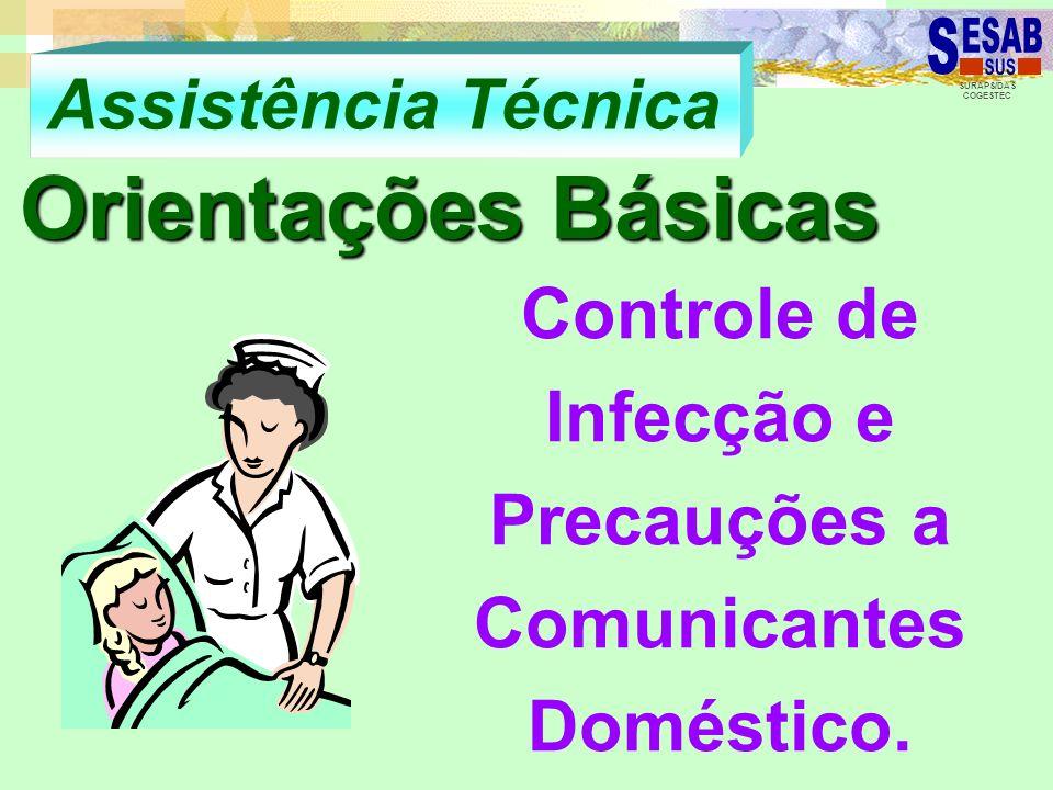 Controle de Infecção e Precauções a Comunicantes Doméstico.