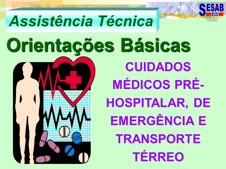CUIDADOS MÉDICOS PRÉ-HOSPITALAR, DE EMERGÊNCIA E TRANSPORTE TÉRREO