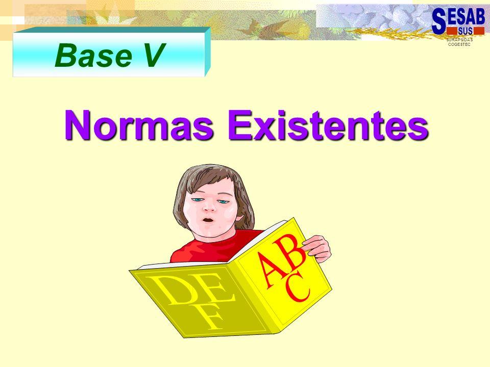 Base V Normas Existentes