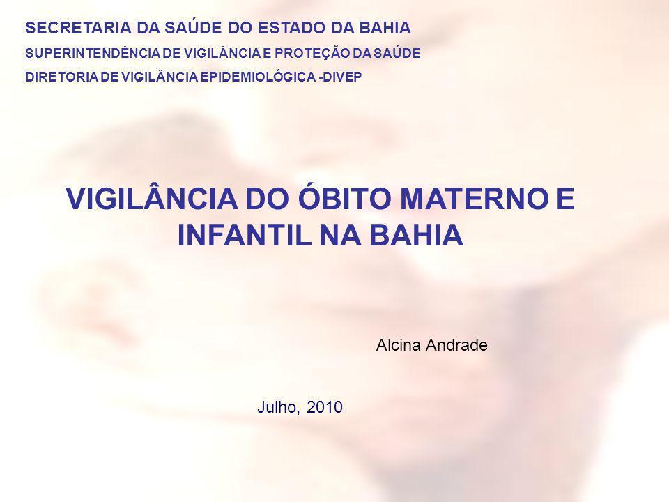 VIGILÂNCIA DO ÓBITO MATERNO E INFANTIL NA BAHIA