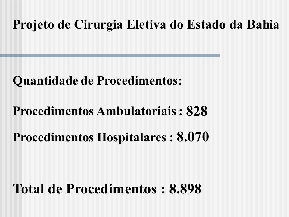Total de Procedimentos : 8.898
