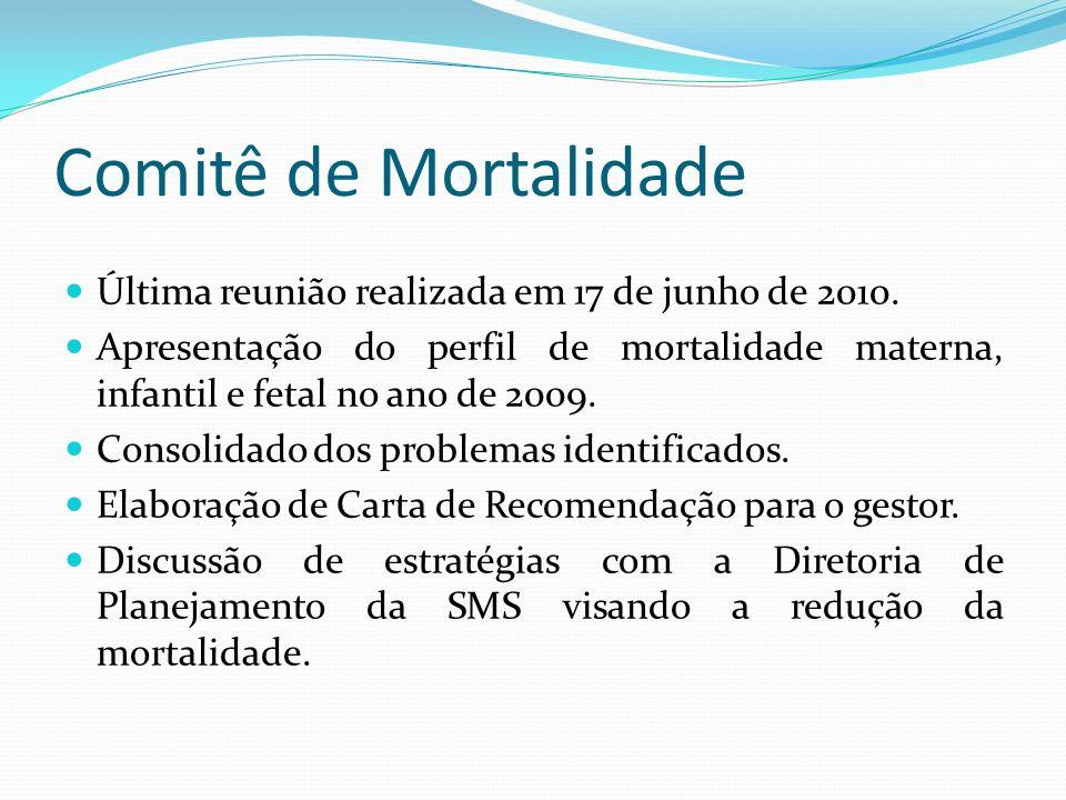 Comitê de Mortalidade Última reunião realizada em 17 de junho de 2010.