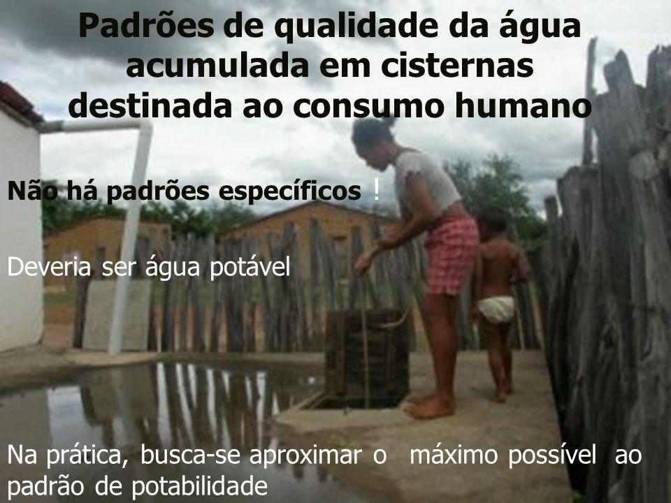 Padrões de qualidade da água acumulada em cisternas destinada ao consumo humano