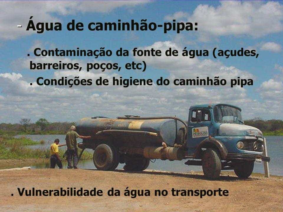 - Água de caminhão-pipa: