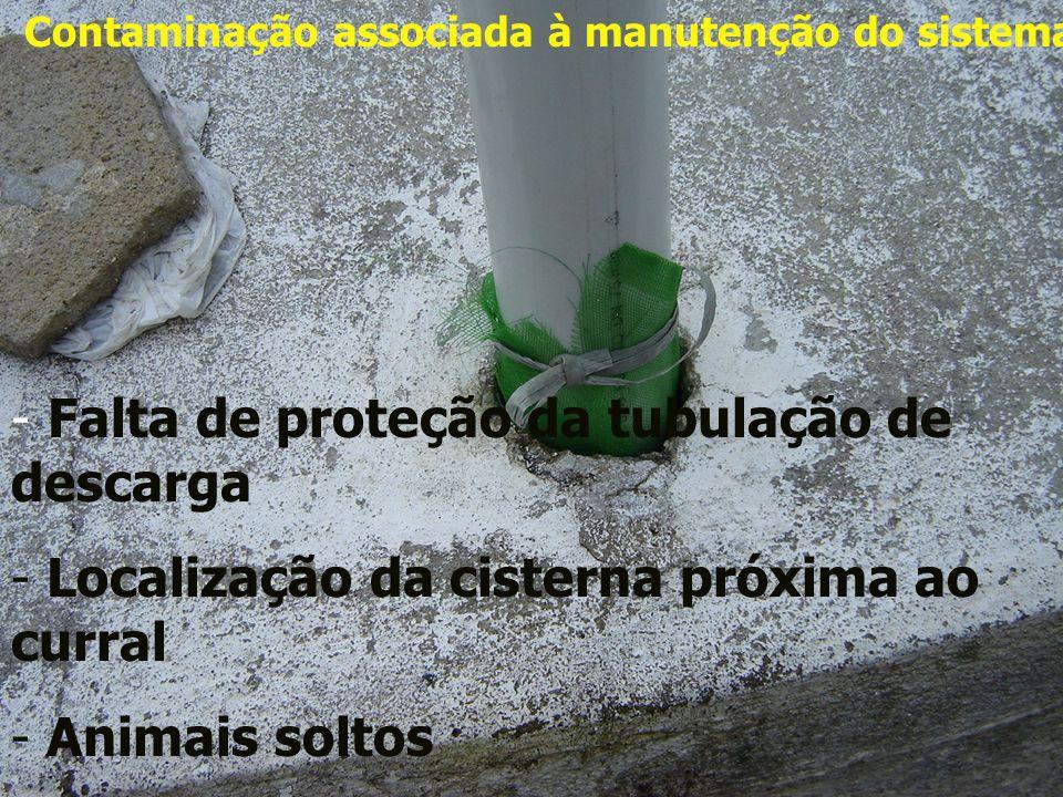 Contaminação associada à manutenção do sistema