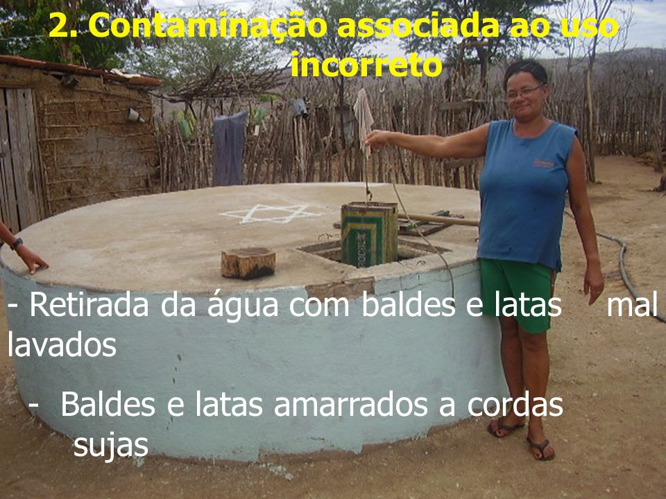 2. Contaminação associada ao uso incorreto