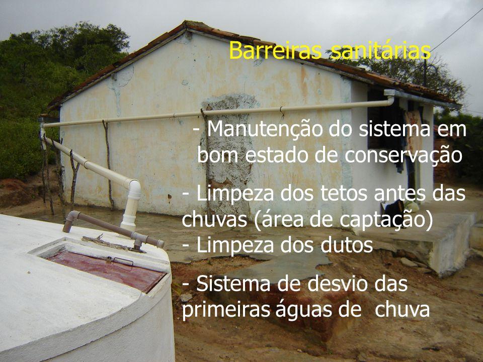 - Manutenção do sistema em bom estado de conservação