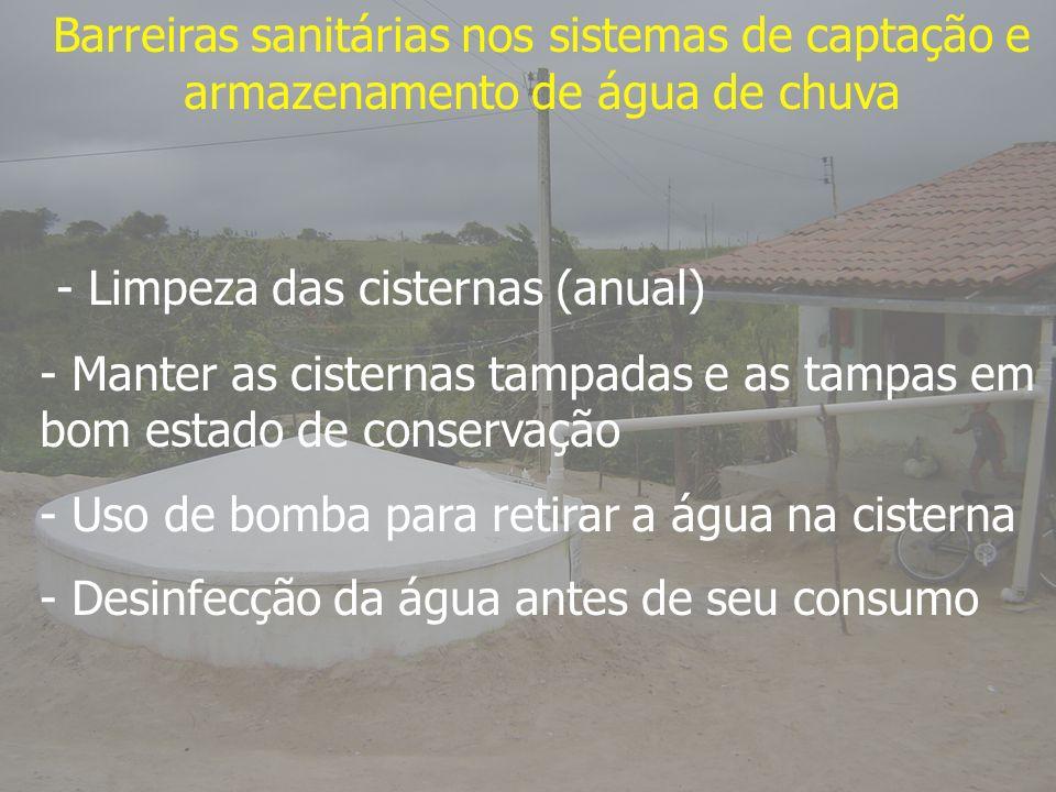 - Limpeza das cisternas (anual)