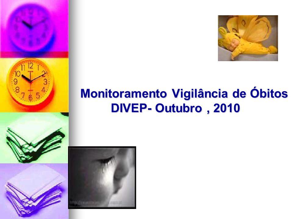 Monitoramento Vigilância de Óbitos DIVEP- Outubro , 2010