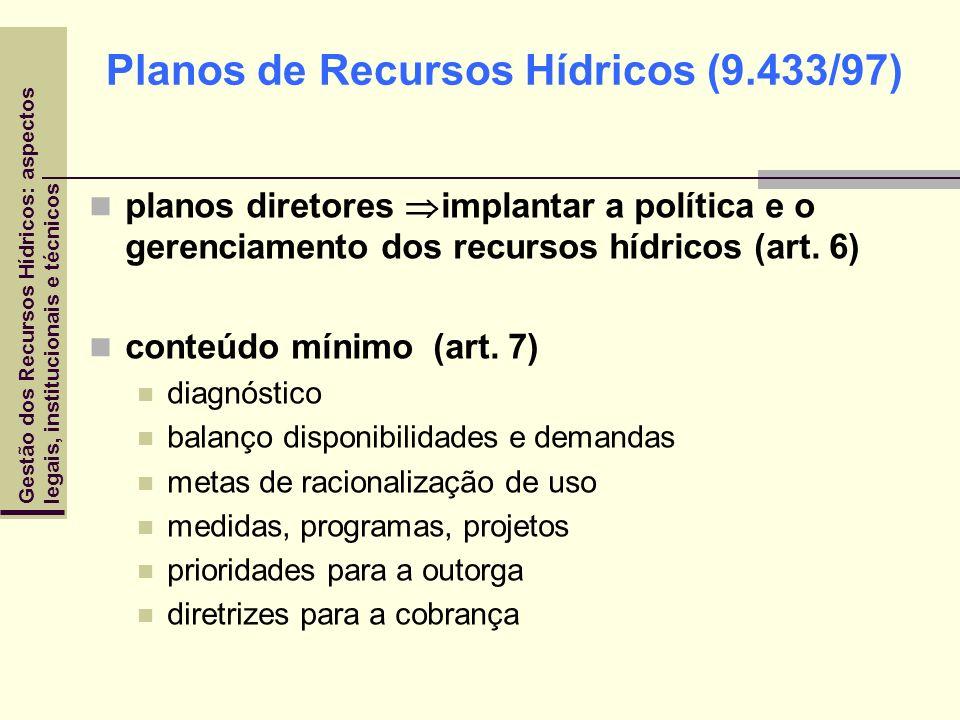 Planos de Recursos Hídricos (9.433/97)