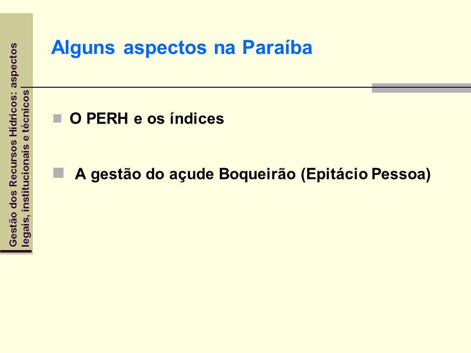 Alguns aspectos na Paraíba