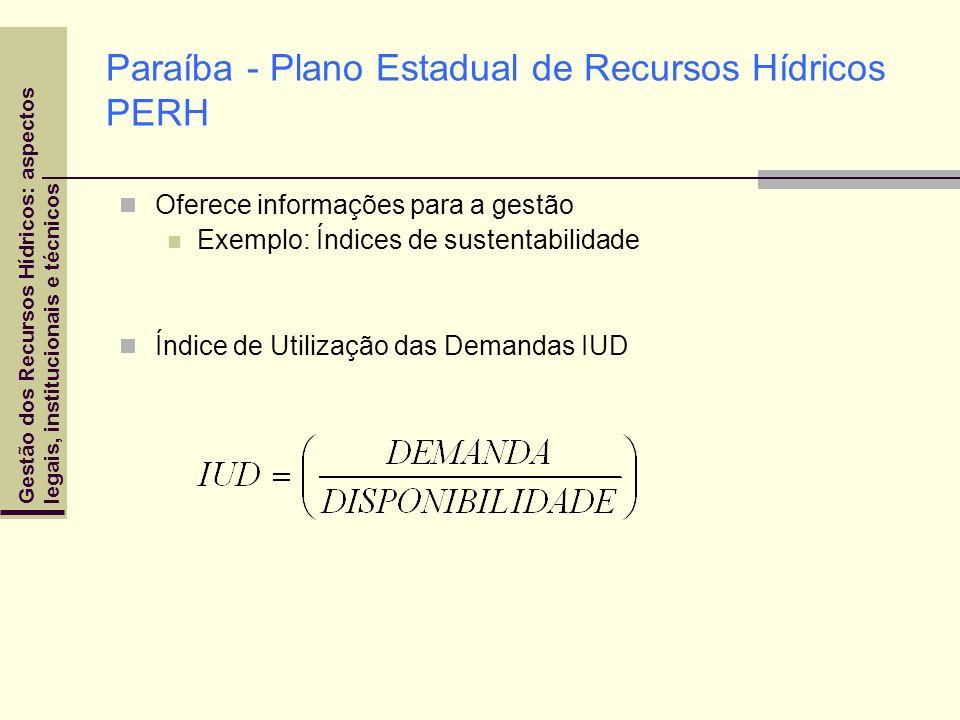 Paraíba - Plano Estadual de Recursos Hídricos PERH