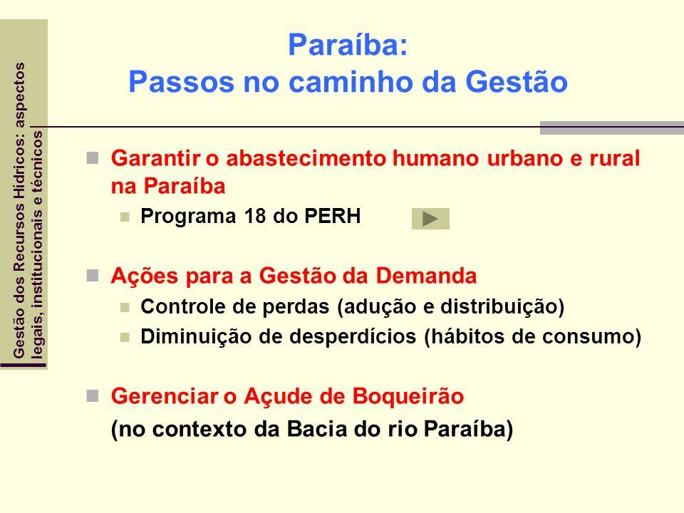 Paraíba: Passos no caminho da Gestão